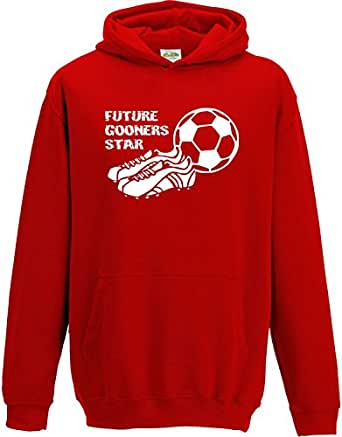 Hat-Trick Designs Arsenal Football Baby/Kids/Childrens Hoodie Sweatshirt-1-2Yrs-Red-Future Star-Unisex Gift