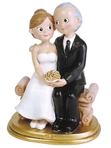 Figure Wedding Couple for Cake, Ideal for Giving IN 50 Wedding Anniversary