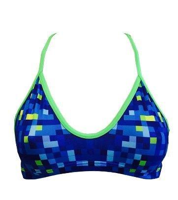 Turbo mix & match Bikini Pixels (Mare) Swimkini olimpionico per per atlete-Top + Slip disponibile separatamente separatamente, blu, Top 36 B C / TURBO L