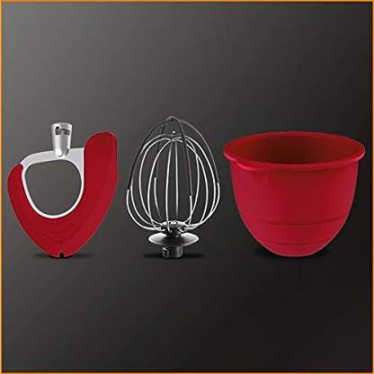 Krups-Premium-Kchenmaschine-17-teilig-46L-Edelstahlschssel-Silikonschssel-4-Rhrwerkzeuge-Edelstahl-splmaschinenfest-1100W-Schnitzelwerk-Fleischwolf-Gratis-Rezepte-und-12er-Cupcake-Form