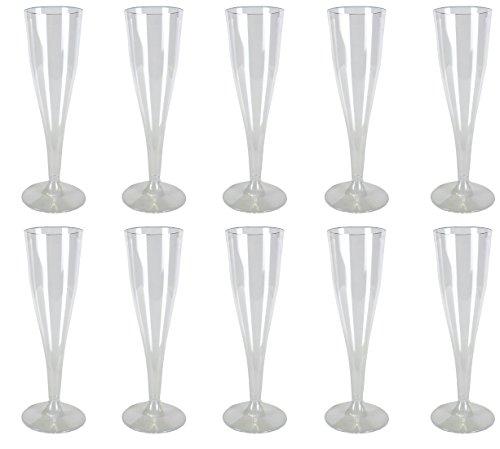 Cacheva 566305 Einwegsektgläser Sektglas 100 Stück transparent (Sektgläser Einweg)