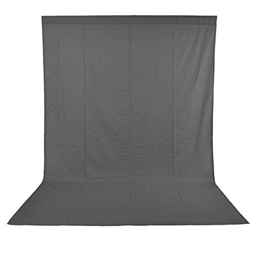Neewer 6 x 9ft/1.8 x 2.8M Foto Studio 100% reine Musselin reduzierbaren Hintergrund Grau