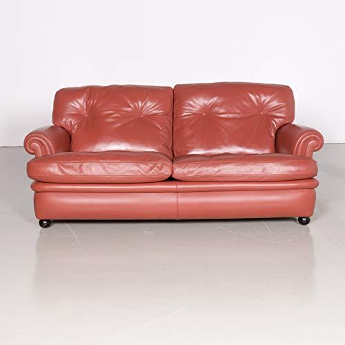 Poltrona Frau Dream On Designer Leder Sofa Orange Zweisitzer Couch #7074