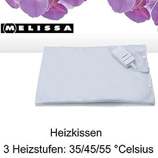 Melissa 16760046 elektrisches Heizkissen 40 x 30 cm 100 Watt Mollige Wärme 3 Heizstufen 35/45/55 °C weiß