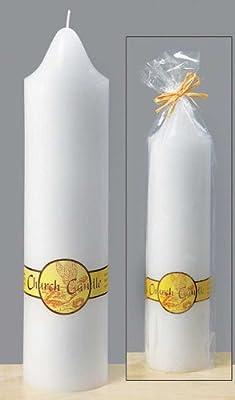 Kerze Wachs weiß Wachskerze Church Candle H 38 cm D 9 cm Altarkerze Stumpe von Boltze - Lampenhans.de