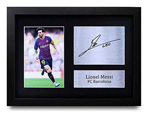 HWC Trading Lionel Messi A4 Enmarcado Regalo De Visualización