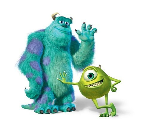 Sulley und Mike Wazowski Monsters University Mousepad Personalisierte Custom Mauspad Oblong Geformte in 25 x 20 cm Gaming Maus (Monsters University Sulley)