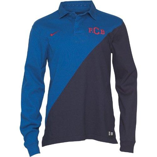Nike Herren FC Barcelona langarm Polo Shirt, Marineblau, Größe M (Hoody Barcelona)