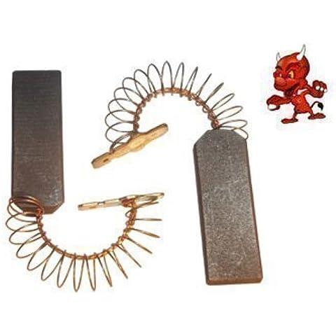 Apto para Cepillos De Carbón, Motor De Carbón Para Bosch WOK 2430, Wok 2431, WOL 1600, Wol 2630