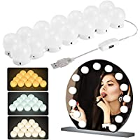 Mirror Light LED Vanity Light Bulb Hollywood Style 3 Modes Lighting Fixture Strip for Home Bedroom Bathroom Dressing Room Makeup USB Powered 3000-7000K Color Temperature (14 Blulbs)