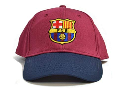 FC Barcelona Football Club Baseball Cap Hat Blue Maroon Crest Badge Official