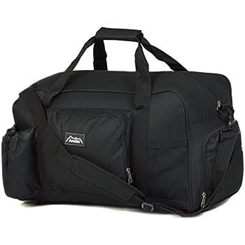 Andes 40 Litre Black Sports Gym Travel Bag Shoulder Holdall Luggage Includes Shoe Pocket