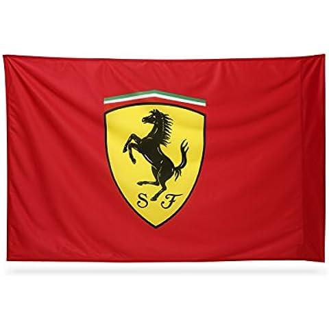 Ferrari bandiera 140x100cm eccellente qualità in supralon HD