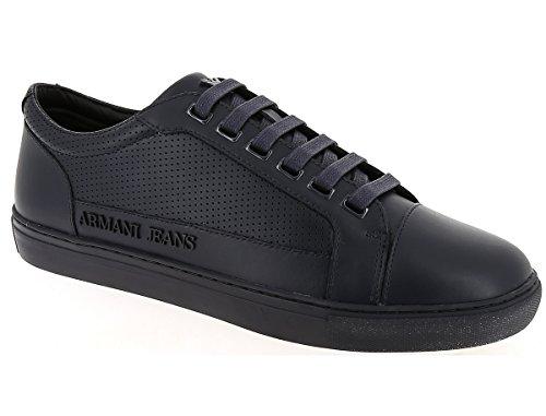 AJ Armani Jeans 6A423 Sneakers Uomo Pelle Blu Blu 45