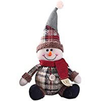 AITOCO Muñeca de la decoración de la Navidad, Estilo Encantador de Santa/Snowmen/Elk para el árbol de Navidad Que cuelga o el Regalo del niño