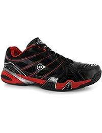 Dunlop Rapid Inferno schnürer unidad Guantes/Botas Squash Zapatillas zapatos de, negro y rojo