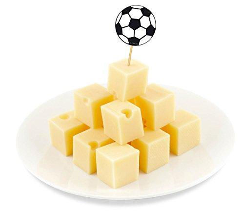 Obere Pick (Fussball EM WM Party-Holz-Picks Picker Party-Spieße 20 Stück Palandi®)