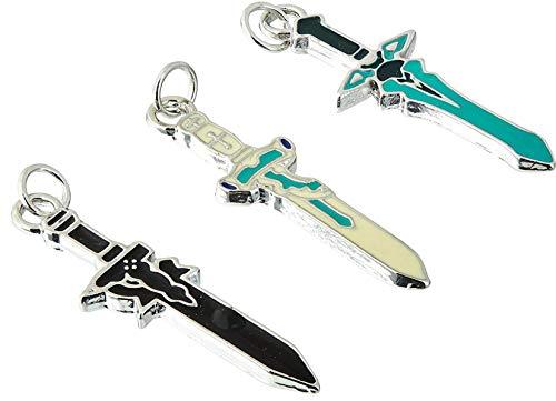 TOSSPER 1 Stück zufällige Farbe Cosplay Sao Sword Art Online Kirito Dunkler Repulser Asuna Halsketten-Anhänger