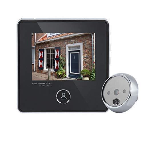Eboxer Judas Caméra 3 '' écran LCD Sonnette Vidéo Visuel Numérique Caméra de Porte 3MP 120 ° Grand Angle Vision Nocturne IR Prise des Photos Système de Sécurité pour Maison Villa, Hôtel etc.