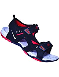 JQR Mens Black and Red Outdoor Sandals UK
