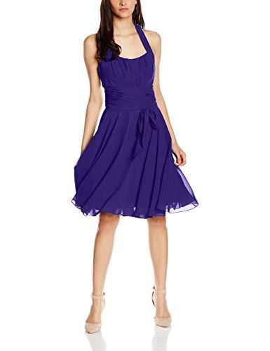 Astrapahl Damen Cocktail Kleid Neckholder, Knielang, Einfarbig, Gr. 46, Violett (Lavendel)