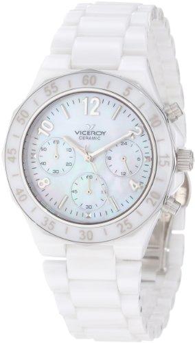 Viceroy 47600-05 - Reloj de Pulsera Mujer, Cerámica, Color Blanco