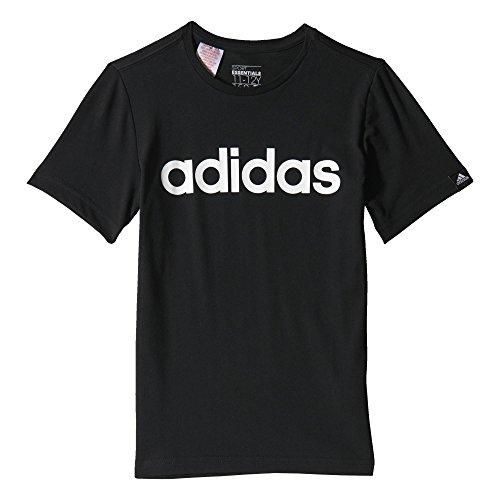 Adidas Yb Ess Lin Tee Maillot Garçon, Noir/Blanc, FR : 6-8 Ans (Taille Fabricant : 128)