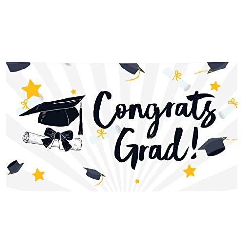 Banner para graduacion,CHshe❤❤,Bandera grande de la fiesta de graduación de la tela 78 \'\' x 45 \'\' telón de fondo durable de Selfie 2019,facil de usar