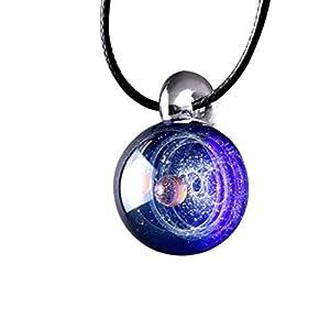 Yeying123 Jungen/Mädchen Kosmische Glas Romantische Glaskugel Pendant Heiligabend Kreatives Geburtstagsgeschenk,Singlebead