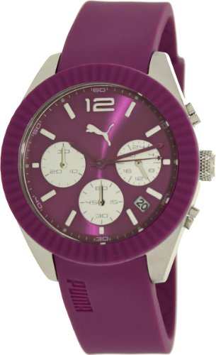 Puma PU102812004–Montre Bracelet pour Femme, Bracelet en polyuréthane Couleur Pourpre