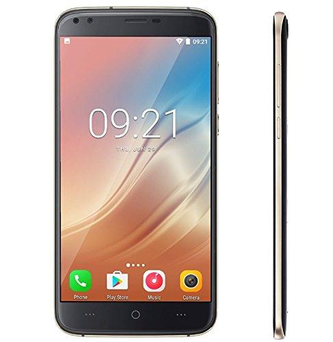 DOOGEE X30-5.5 '' HD Bildschirm Android 7.0 3G Smartphone, Dual Hinten Kameras + Dual Front Kameras (5MP + 5MP + 8MP + 8MP), 1.3GHz Quad Core CPU mit 2GB RAM 16GB ROM, 3360mAh Schwarz (Smartphone-chinesischen 2gb Ram)