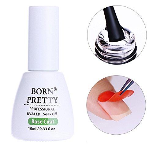 Born Pretty 10ml Nail Art Peel Off Base Coat Gel Water Soak Off Manicure UV Primer Gel Polish (Acrylic Nail Base Coat)