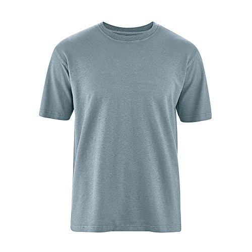 HempAge Herren T-Shirt Hanf/Bio-Baumwolle Petrol