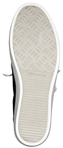 Tamaris Schuhe 1-1-23629-37 Damen Sneaker, Schnürer, Halbschuhe, Sommerschuhe für modebewusste Frau, SILV.GLAM COMB