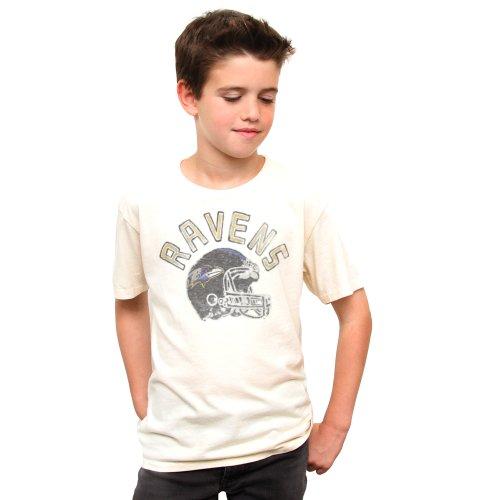 NFL Boy 's Vintage Kickoff Rundhalsausschnitt T-Shirt, Jungen, Baltimore Ravens (Food Junk T-shirts Kids)