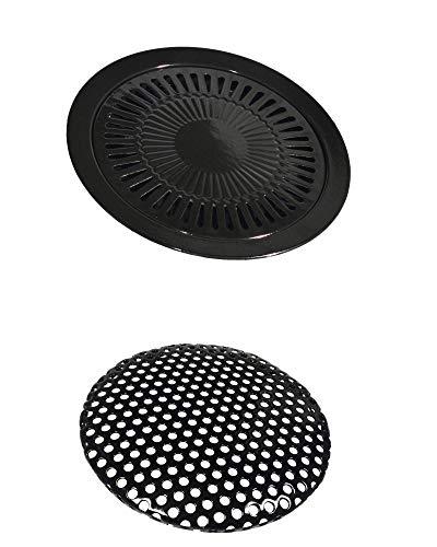 Griglia per fornello a gas portatile, Ø 32 cm, piastra per barbecue, per fornello a gas, edizione speciale
