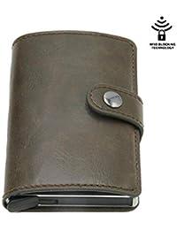 f30f781763 Portafoglio Porta Carte di Credito Vintage Antifurto da Uomo Portafoglio  RFID in Pelle Unisex Informazioni di
