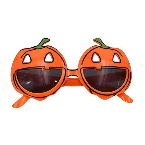 äser Halloween Kostüm Maskerade Party Dekoration Cosplay Glas Requisiten (Orange) ()