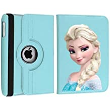 Personalizado Elsa Frozen Disney funda giratoria para Apple iPad Mini 1 2 3 azul claro