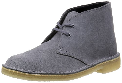 Clarks Originals Desert Boot Damen Derby Schnürhalbschuhe Blau (Blue/Grey)