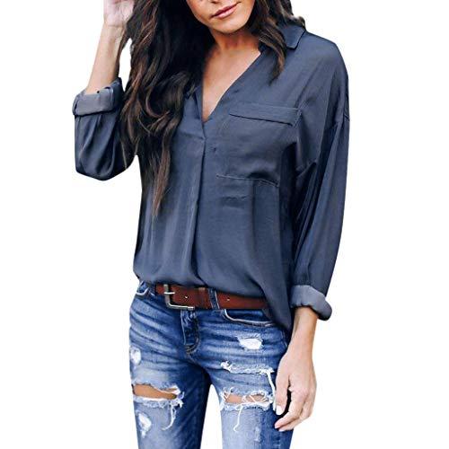 Bobopai Womens Sexy V-Neck Chiffon Blouse Cuffed Sleeve Solid Zip Casual Shirts Tops Irish Womens Zip Hoodie