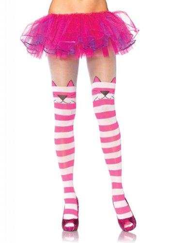 Leg Avenue 7292 - Cheshire Cat Blickdichte Strumpfhose, Einheitsgröße, rosa