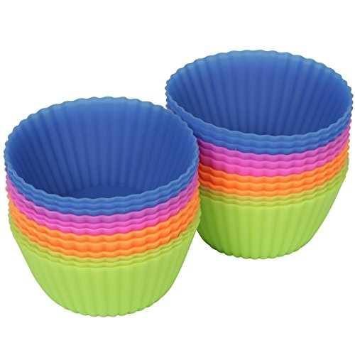 Silikon Backförmchen - Muffinform - Cupcake - 24er Pack - The New York Baking Company - Qualitätsprodukt