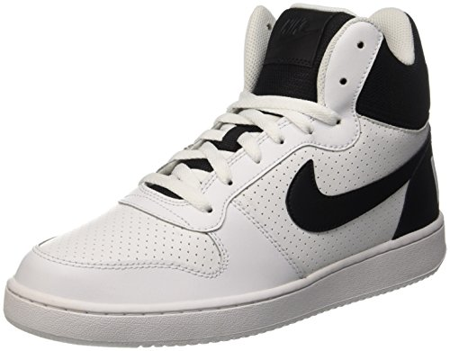 Nike Herren Court Borough Mid Basketballschuhe Weiß (White / Black)