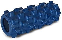 Rumble Roller Half Size Original Blue - Textured Muscle Foam Roller Manipulates Soft Tissue Like A Massage Therapist - 12 Inches, Original Density,12x5 Blue/