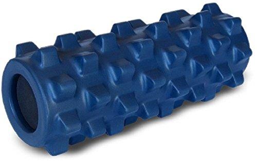 RumbleRoller Original Bleu - Taille compacte 12,5 cm x 30 cm