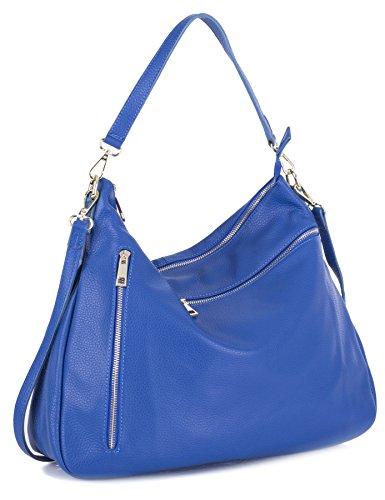 Big-Handbag-Shop-Womens-Real-Leather-Multi-Zip-Pocket-Medium-Hobo-Shoulder-bag