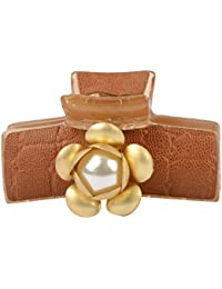Ag'S Brown Plastic Hair Clip For Women (20)