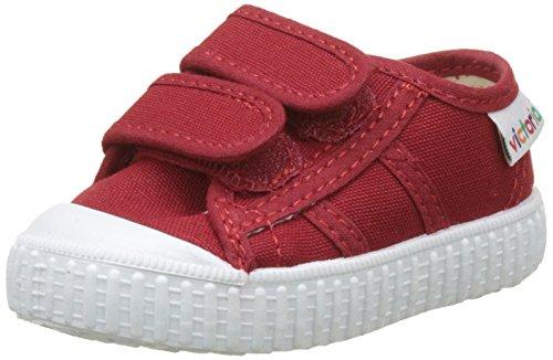 Victoria Basket Lona Dos Velcros, Zapatillas Unisex bebé, Rojo Carmin, 18 EU