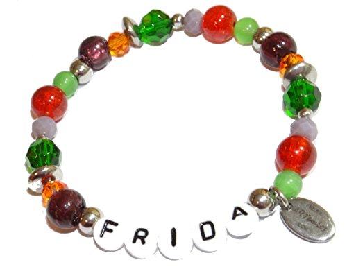 ARTemlos® Handmade Kinder-Armband mit Name aus Edelstahl und Perlen (059)